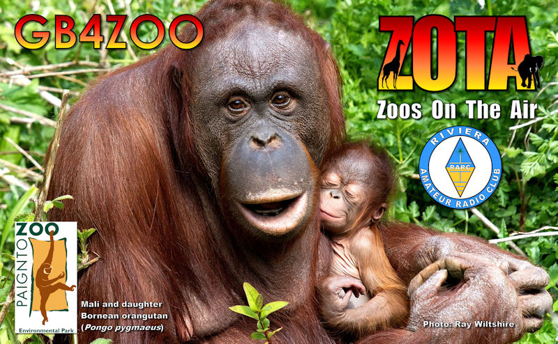 GB4ZOO QSL card